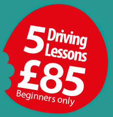5 Driving Lessons for £85 - Beginners only