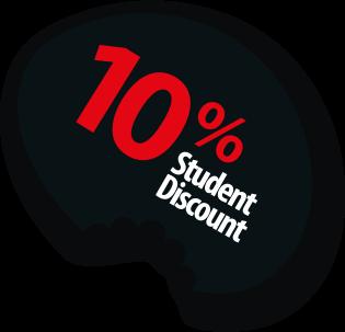 10% Student Discount